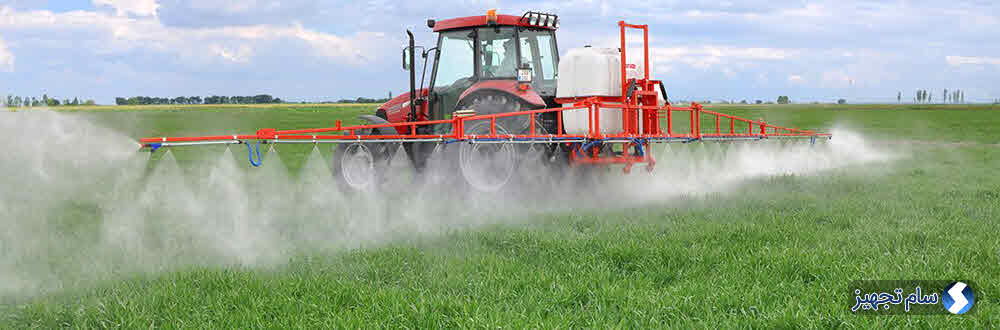 سمپاشی مزرعه کشاورزی