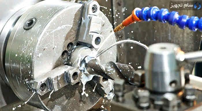استفاده از مایع خنک کننده یا آب صابون در ماشینکاری