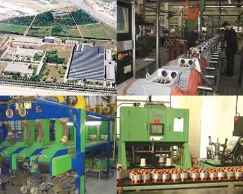 نمایی از کارخانه و خط تولید الکتروموتور گاماک