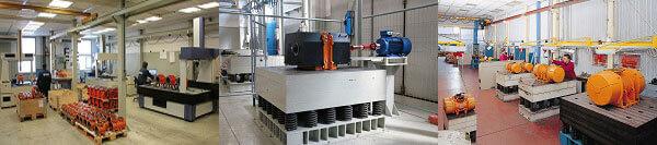 مراحل تست موتور ویبره در کارخانه ایتال ویبره
