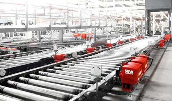 کاربرد گیربکس SEW در خطوط انتقال مواد